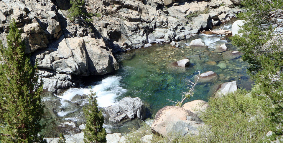 South Fork San Joaquin River in John Muir Wilderness, CA