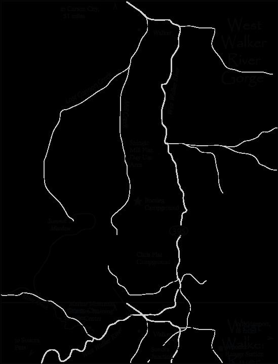 West walker river gorge fishing map eastern sierra maps for Walker river fishing