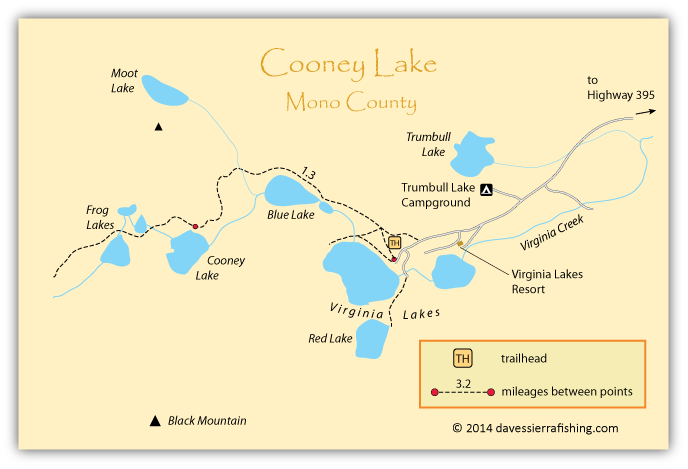 Cooney Lake Map Dave S Sierra Fishing