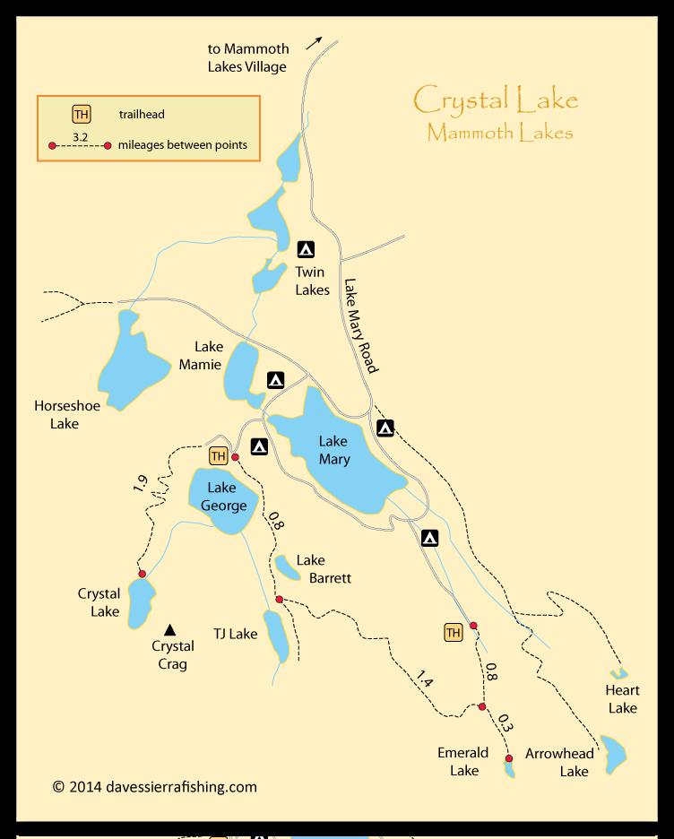 Crystal lake map dave 39 s sierra fishing for Crystal lake fishing