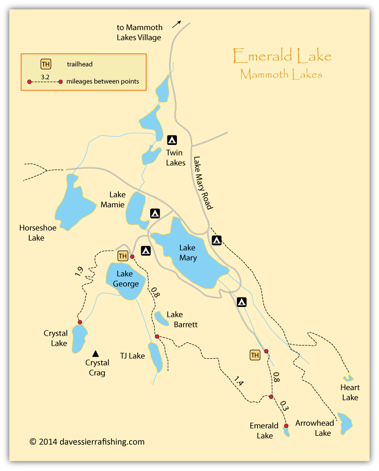 Emerald Lake Map | Dave's Sierra on map of forest fires, map of ambergris, map of bay village, map of log country cove,