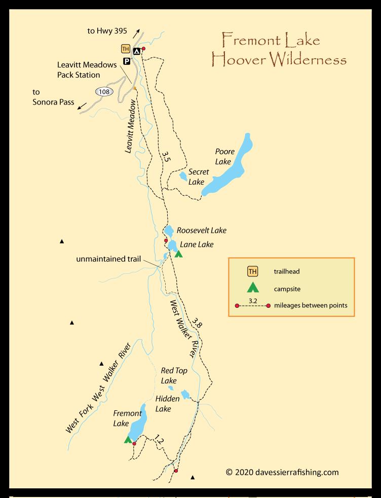 Fremont Lake Fishing Map